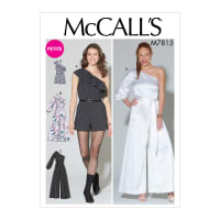 McCall's M7815 Misses'/Miss Petite Romper, Jumpsuit and Belt A5 (Sizes 6-14)
