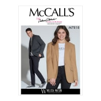 McCall's M7818 Melissa Watson for Palmer/Pletsch Unisex Jacket XM (S-M-L)