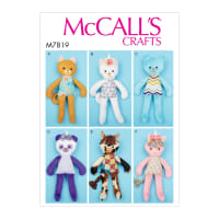 McCall's M7819 Soft Toy Animals (One Size)
