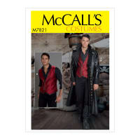 McCall's M7821 Men's Costume MWW (Sizes 38-44)