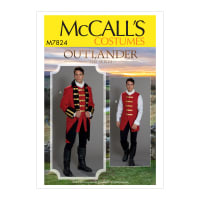 McCall's M7824 Outlander Mens' Costume MQQ (Sizes 46-52)