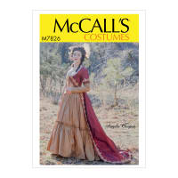 McCall's M7826 Angela Clayton Misses' Costume A5 (Sizes 6-14)