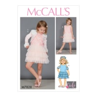 McCall's M7828 Childern's/Girls' Dress Pattern CL (Sizes 6-7-8)