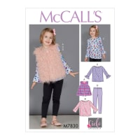 McCall's M7830 Children's/Girls' Sportwear Pattern CDD (Sizes 2-3-4-5)