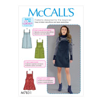 McCall's M7831 Misses Dress Pattern AX5 (Sizes 4-12)
