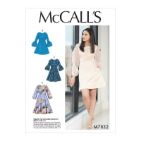 McCall's M7832 Misses Dress Pattern A5 (Sizes 6-14)
