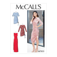 McCall's M7833 Misses Dress Pattern A5 (Sizes 6-14)