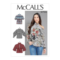 McCall's M7836 Misses Top/Vest Pattern A5 (Sizes 6-14)