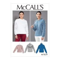 McCall's M7839 Misses Top/Vest Pattern Y (Sizes XSM-SML-MED)