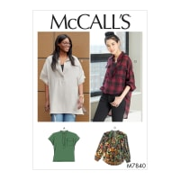 McCall's M7840 Misses / Plus Sz Top Pattern B5 (Sizes 8-16)