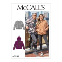 McCall's M7841 Unisex Top / Vest Pattern XM (Sizes S-M-L)