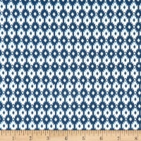 Monaluna Organic Poplin Journey Aztec Diamond Blue/White