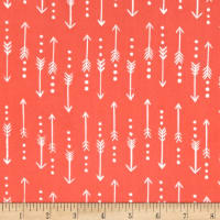 Monaluna Organic Poplin Journey Arrows Coral/White