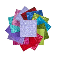 "Sit 'n Sew Precut Quilters Stash 2.5"" Square 40 Pcs. Summer Blender"