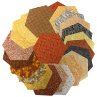 "Sit 'n Sew Precut Quilters Stash 5"" Hexagon 42 Pcs. Fall Blender"