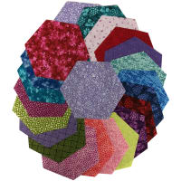 "Sit 'n Sew Precut Quilters Stash 5"" Hexagon 42 Pcs. Summer Blender"