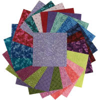 "Sit 'n Sew Precut Quilters Stash 5"" Square 42 Pcs. Summer Blender"
