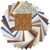 "Sit 'n Sew Precut Quilters Stash 10"" Square 42 Pcs. Fall Blender"