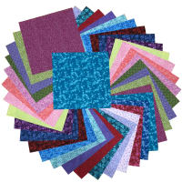 "Sit 'n Sew Precut Quilters Stash 10"" Square 42 Pcs. Summer Blender"