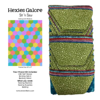 Sit n' Sew Quilters Stash 1/2 Hexies Quilt Kit 2 Blender