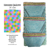 Sit n' Sew Quilters Stash 1/2 Hexies Quilt Kit 3 Blender