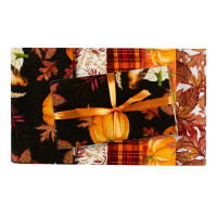 Pumpkin Spice Fall Fat Quarter Bundle 5 Pcs Multi