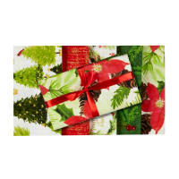 Holiday Joy Christmas Fat Quarter Bundle 5 Pc Metallic Multi
