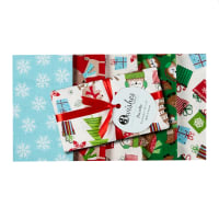 Merry Forest Christmas Fat Quarter Bundle 5 Pcs Multi