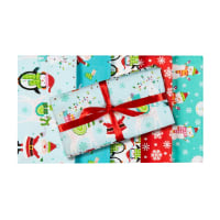 Santa And Friends Christmas Fat Quarter Bundle 5 Pc Multi