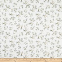 Windham Eliana Floral Buds White/Grey