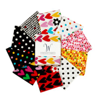 Windham I Heart You Another Point View Fat Quarters Multi
