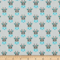 Whistler Studios Stand Tall Giraffe Faces Light Grey