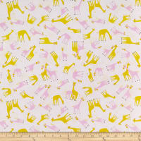 Whistler Studios Stand Tall Tossed Baby Giraffes Pink
