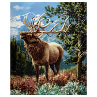"Windham One Of A Kind Whistler Studios Mountain Elk 24"" Panel Multi"