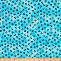 Windham Somebody To Love Whistler Paw Print Turquoise