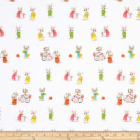 Heather Ross Country/City Mouse White
