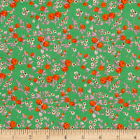 Heather Ross Mousies Floral Kelly