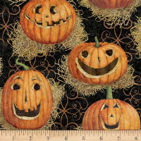 Susan Winget Halloween Jack O' Lanterns Eco Canvas Multi