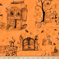 Susan Winget Halloween Halloween Toile Eco Canvas Orange