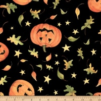 Susan Winget Halloween Pumpkin Toss Eco Canvas Black