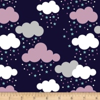 Stof Fabrics Denmark Avalana Jersey Knit Cloud Star Purple