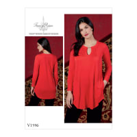 Vogue V1596 Misses' Top Pattern E5 (Sizes 14-22)