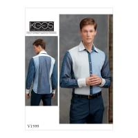 Vogue V1599 Mens' / Boys' Top Pattern MUU (Sizes 34-36-38-40)