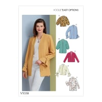 Vogue V9338 Misses' Jacket Pattern E5 (Sizes 14-22)