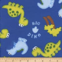 Super Soft Velour Fleece Big Dino Blue