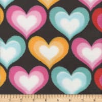 Super Soft Velour Fleece Hearts Black