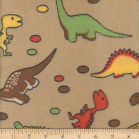Super Soft Velour Fleece Dino Brown