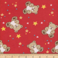 Super Soft Velour Fleece Baby Bear Red