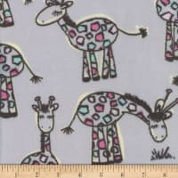 Super Soft Velour Fleece Giraffe Grey