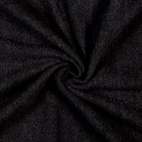 Terry Cloth Toweling Black